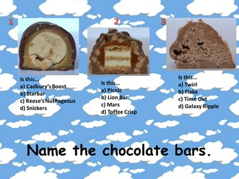 Name the Chocolate Bar Quiz