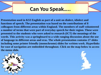 Can you speak...