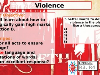 Violence in Macbeth - Section B WJEC