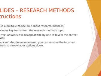 SOCIOLOGY 8 SLIDES - Research methods