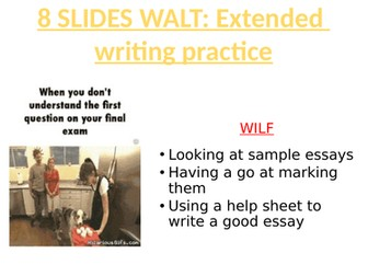 SOCIOLOGY 8 SLIDES WALT- Extended  writing practice