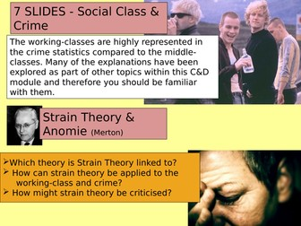 SOCIOLOGY 7 SLIDES class and crime