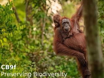 Edexcel CB9f Preserving Biodiversity