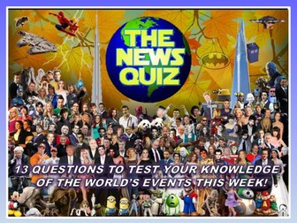 CURRENT WEEK The News Quiz 4th - 11th November 2019 Form Tutor Time Current Affairs