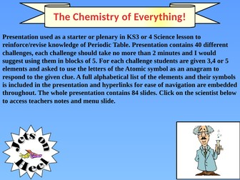 Chemistry of Everything