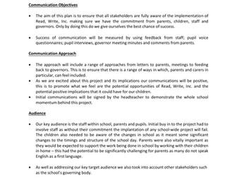 NPQSL Communications Plan