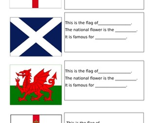 Year 1- Geography UK Flag Activity
