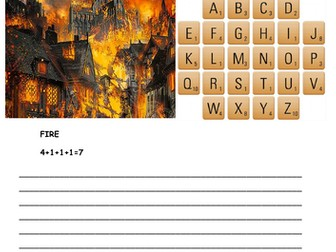 Great Fire of London Scrabble Game