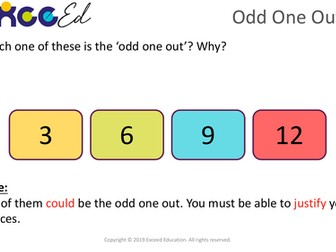 Odd One Out: 'Start the Day' reasoning activity