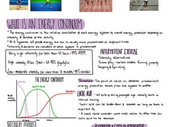 A-level PE, OCR Energy Continuum