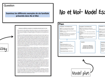 No et Moi- Model Essay and Plan- Vies familiales- A Level French
