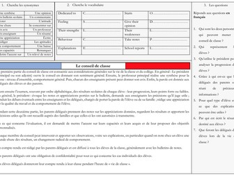 French A Level Education - conseils de classe (reading, exam practice questions)