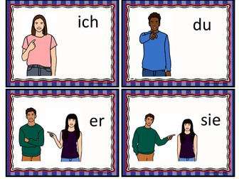 German Pronouns 36 Flashcards: Subject, Direct and Indirect Object, Possessive