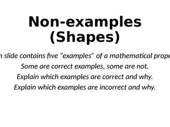 Non-Examples - Shapes (and Angles) - Reasoning Tasks