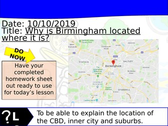 Changing Cities Lesson 3 - Geography Edexcel A