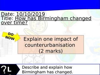 Changing Cities Lesson 4 - Geography Edexcel A