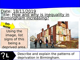 Changing Cities Lesson 7 - Geography Edexcel A