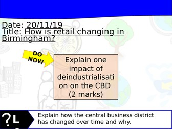 Changing Cities Lesson 8 - Geography Edexcel A