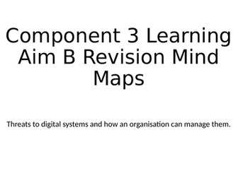 BTEC DIT Component 3 Learning Aim B Revision Mind Maps