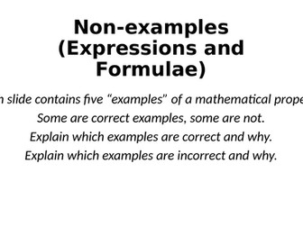 Non-Examples - Expressions and Formulae - Reasoning Tasks