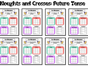 Morpions/ Noughts and Crosses- Grammar/ Conjugation Game- Future Tense- KS4 and KS5