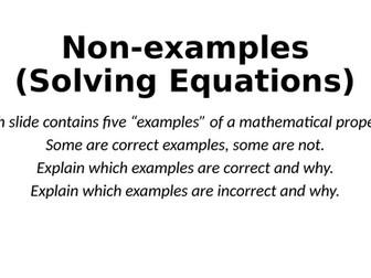 Non-Examples - Solving Equations - Reasoning Tasks