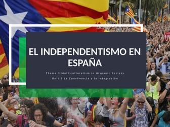 """Y13 Theme 3 Unit 3 """"El Independentismo en España"""""""