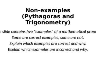 Non-Examples - Pythagoras & Trigonometry - Reasoning Tasks