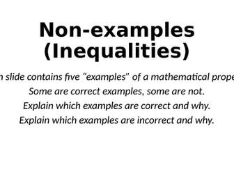 Non-Examples - Inequalities - Reasoning Tasks
