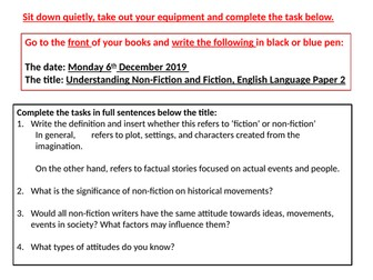 Outstanding Lessons on English Language, Paper 2.
