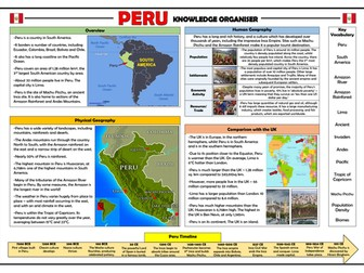 Peru Knowledge Organiser - KS2 Geography Place Knowledge!