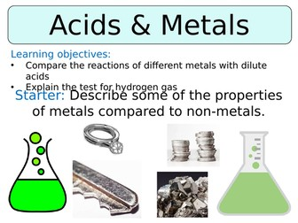 KS3 ~ Year 8 ~ Metal & Acid Reactions