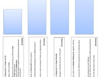 AQA 2019 Language Paper 2 DIRT tasks