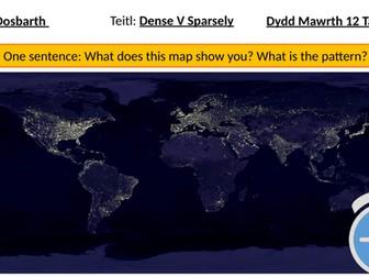 Understanding world population distribution