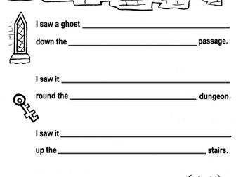HAUNTED CASTLE writing, guided