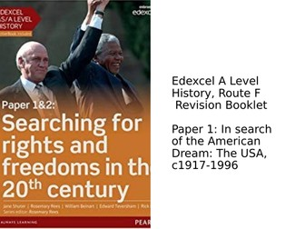 Edexcel A Level History, Route F, Revision Workbook - America