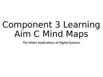 BTEC DIT Component 3 Learning Aim C Mind Maps