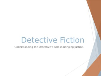 Reading Fiction: Detective/Crime Fiction SOL