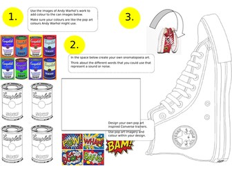 Pop Art - Cover Worksheets