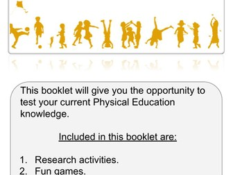 Physical Education Activity Booklet