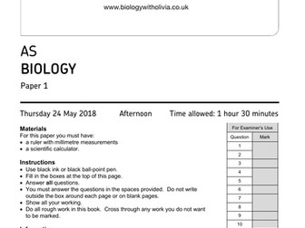 2018 AS Biology AQA paper 1   A* model answers & annotations - exam technique