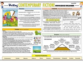 Writing Contemporary Fiction - Lower KS2 Knowledge Organiser!