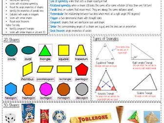 Maths Knowledge Organiser - Properties of Shape
