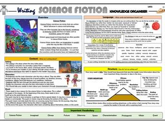 Writing Science Fiction - Lower KS2 Knowledge Organiser!