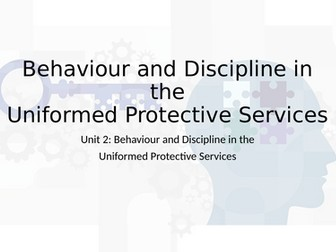 Level 3 RQF Uniformed Protective Services - Unit 2 Behavior & Discipline, Learning Outcome A