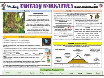 Writing Fantasy Narratives - Lower KS2 Knowledge Organiser!