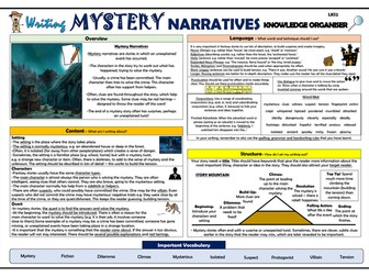Writing Mystery Narratives - Lower KS2 Knowledge Organiser!