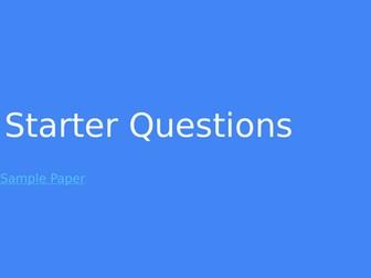 Information Technologies Starter Questions (Editable)