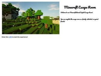 Minecraft (virtual escape room for remote teachers!)