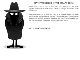 Spy Apprentice Digital Escape Room